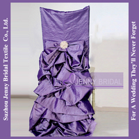 C351A wholesale wedding table and chairs decoration satin fabric ruched chair cover