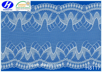 China factory supply cotton lace fabric wide trim