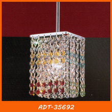 Color crystal square pendant lighting for dining room ADT-35692