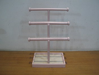 3 Tier Bangle Bar with Rectangle Base Jewelry Holder