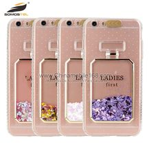 Liquid crystal mobile back cover glitter liquid case for moto g4