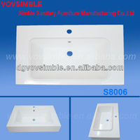 Scratch-resistant Acrylic Resin Counter Basin,Clients size and colors are also welcomed