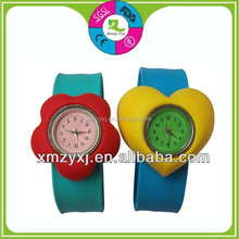 waterproof silicone kids slap wrist band watch