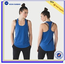 Wholesale Fitness Yogawear Ladies Tops Images Women Gym Scoop Neck Tank Tops