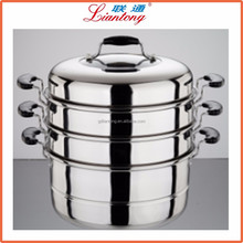 Hot sale cooking utensils set stainless steel food steamer for dumpling