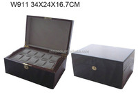 High luxury Glossy painted wooden watch collection case