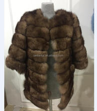 China Cheap factory price fox fur coats transfermer sable color fox fur coat women fur coat