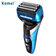 Kemei8150 4-Blade Cutting System LCD Display Electric Shaver Razor 1.5 Hour Quick Charge Electric Shaver 100-240v Fully Washable