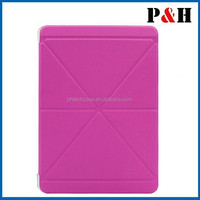 Leather Folio Case for iPad Mini with Smart Cover Function