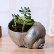 Funny resin pond snail custom flower pots for sale
