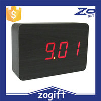 ZOGIFT Promotional Gift Wooden Table Clock Sound Control Talking Alarm Clock Carpet Alarm Clock