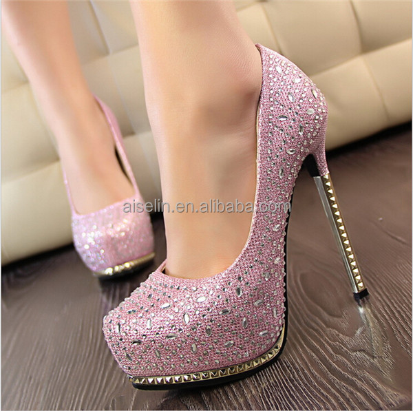 Hot sale 2016 Italian leather trend girls wholesale exotic shoes rhinestone shoes