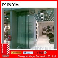 tempered glass frameless bifold door/ folding door without frame