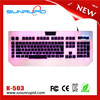 BEST QUALITY LED 3 COLORS BACKLIGHT USB MACRO GAMING KEYBOARD FOR PC