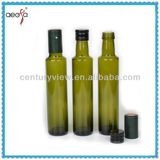 Food Grade Dark Green Dorica Olive Oil 500ml Glass Bottle