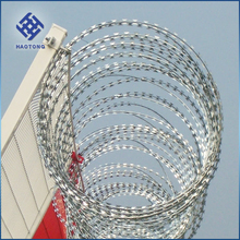 factory supply hot sale cheap razor blade concertina barbed wire for military use