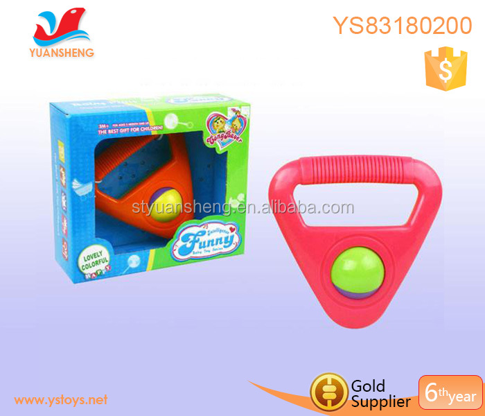 Wholesale plastic rattle ball for baby rattle toy made of ABS baby shaking rattle balls