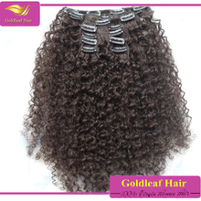 wholesale virgin unprocessed malaysian hair curly black clip in hair extensions