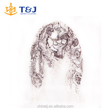 Floral chiffon scarves fringed lace scarf spot wholesale handmade tassel flower printed scarf