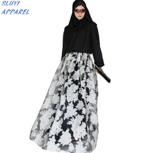100% polyester Floral Print Long Swim Wear Kimono tops custom abaya muslim dress Traditional African Print kaftan xxxl