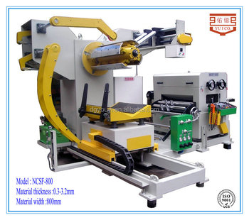 Chinese CNC Servo 3 in 1 straightener feeder and uncoiler