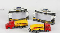 Diecast truck toys metal container trailer fuel tanker car lorry truck