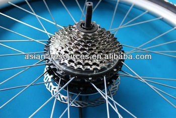 Wholesale 2013 New 48V 200W Electric Bicycle Ebike Brushless Gearless Mini Hub Motor Rear Wheel Motor Support 9-speed Disc Brake