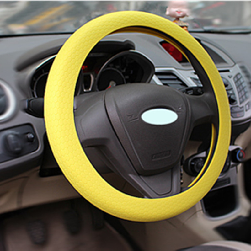 Shenzhen Factroy Cheap Price Car Steering Wheel Cover Auto Steering Wheel Protective Silicone Covers