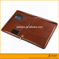 Office portable diary leather covers A5 leather business portfolio