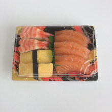 Classical japanese pattern plastic 'to go' sushi plates/ tray for sushi