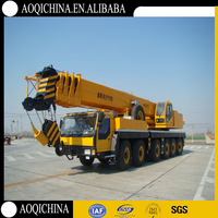 AOQI 110T lifting capability truck crane price QLY110 mobile crane for sale