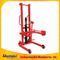 350KG 1460MM lifting height hydraulic hand stacker for oil drum ( tilting type)