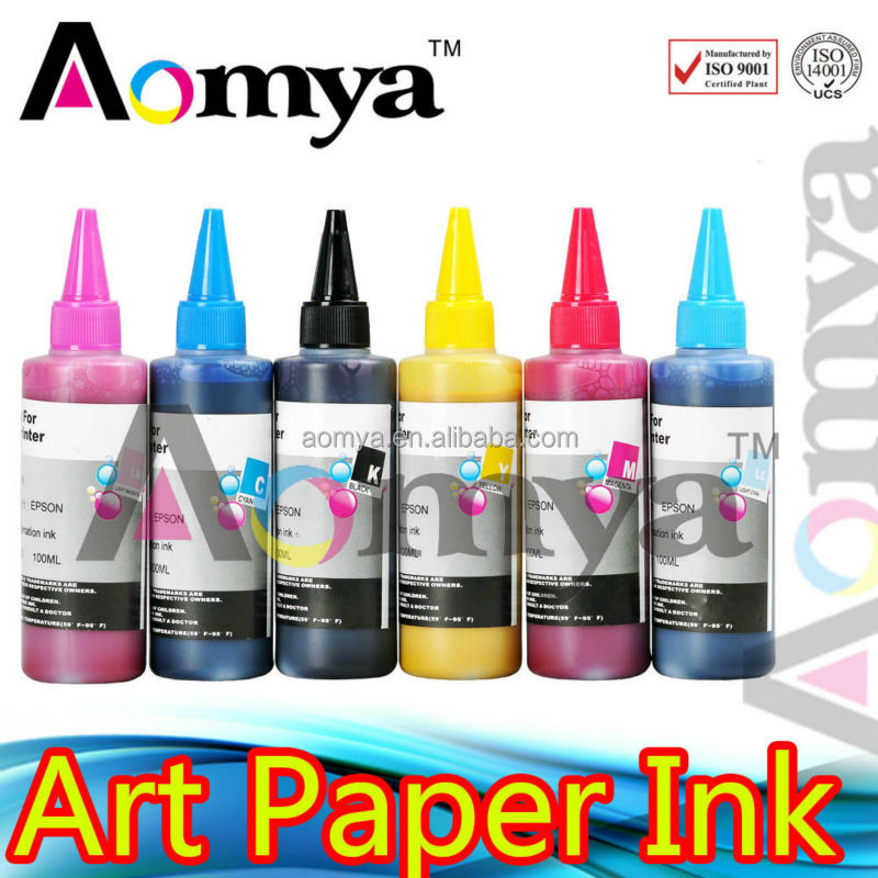 Aomya Waterproof Art Paper inject Ink. Bulk ink For Epson For Epson Stylus Photo R2400/7800/9800/7880C/4880C
