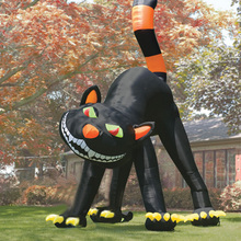 Popular halloween inflatables black cat decoration