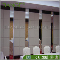 Cheap used office types of sliding sound proof partition wall