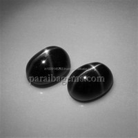 4ct Black Star Diopside 8mm x 6mm Oval Cabochon Manufactures Suppliers In India Natural Semi Precious 100% Genuine Gemstones
