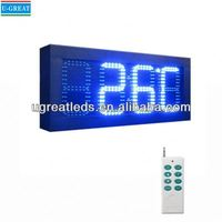New inventions china GPS Control led display for time date temperature