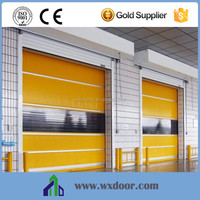 Plastic PVC fast folding door in factory