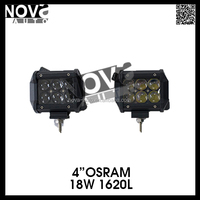 High Output 18W 4inch OSRAM 4D 24 Volt Led Light Bar