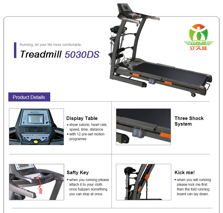 3.0hp Newest Model High Quality Home Treadmill