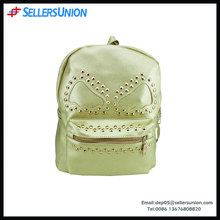 High quality monster rivet PU lady backpack, travel leisure fashion hot backpack bag