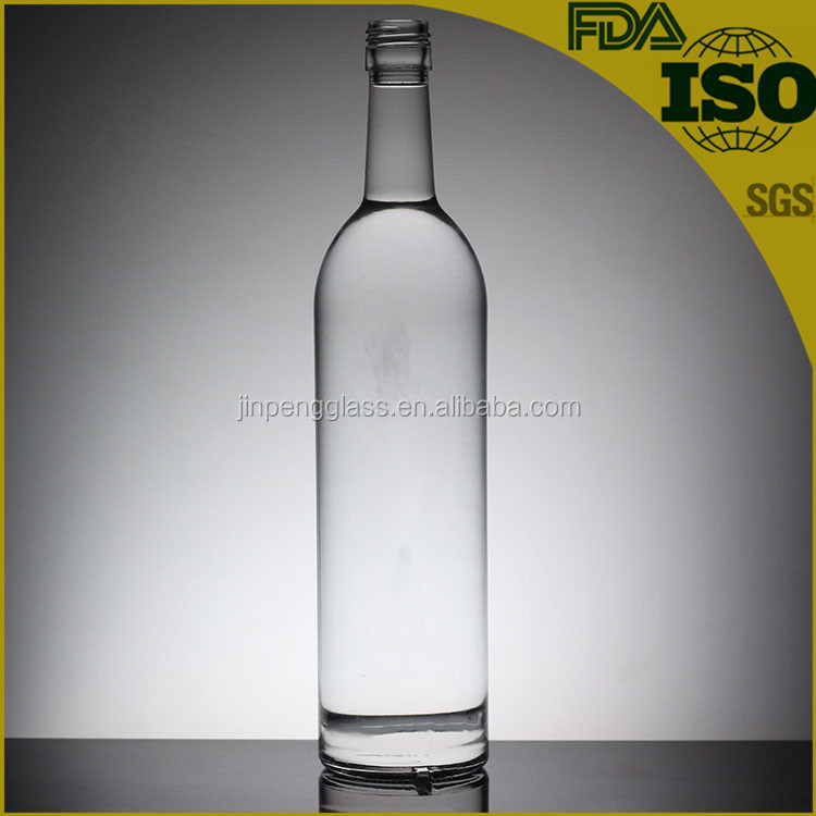 Hot sell alcohol glass bottle small glass bottle for brandy 750ml wine bottle