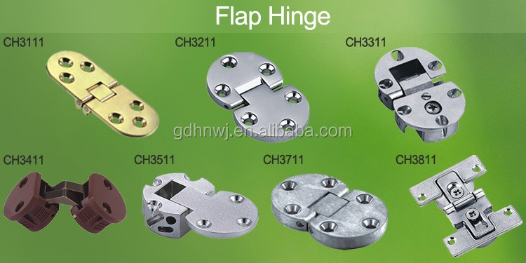 High quality Zinc Alloy drop flap hinge invisible table hinge