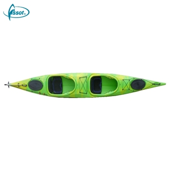 Cheap sit in fishing double paddle plastic kayaks for sale, 2 person kayak sale