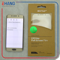 2015 New product Full cover / size front and back TPU PET screen protector for Samsung Galaxy S6 Edge OEM