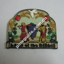 Advertising Customised Soft PVC Fanshaped Bible Words Fridge Magnet For Catholic Souvenir