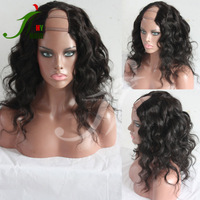 7A 8A 9A Top Quality Indian Virgin Human Hair Middle Part Short Body Wave U Part Wigs for Black Women