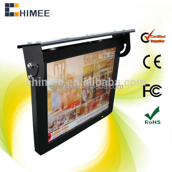 17inch bus LCD monitor video displayer for advertising with HDMI and WIFI