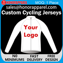 Custom Girls Sexy Cycling Wear Long Sleeve Blank Jersey, Custom blank cycling jerseys