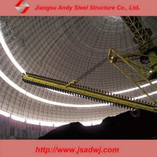 Light steel structure of dry coal shed storage warehouse